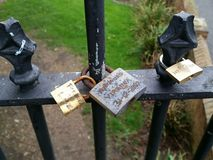 Förälskelse låser Newport Pagnell Arkivbilder