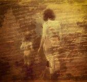 Förälskelse märker retro Arkivbild