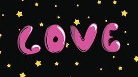 Förälskelse- och gulingstjärnor stock video