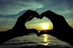 Förälskelse och hjärta Arkivfoto