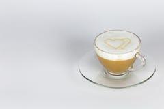 Förälskelse och kaffe Arkivfoto