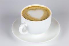 Förälskelse och kaffe Fotografering för Bildbyråer