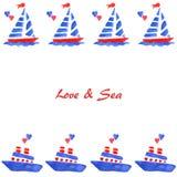 Förälskelse och skepp Royaltyfria Bilder