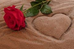 Förälskelse på stranden Royaltyfria Bilder