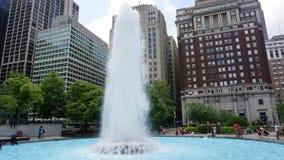 FÖRÄLSKELSE parkerar springbrunnen i Philadelphia Arkivbild