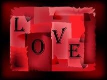 Förälskelse-röd bakgrund Royaltyfria Bilder