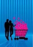 förälskelse som shoping Royaltyfria Bilder