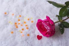 Förälskelse St Dag för valentin` s härliga hjärtor Arkivbild
