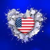Förälskelse till Förenta staterna över blått
