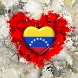 Förälskelse till Venezuela över röd hjärta