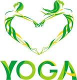 förälskelse till yoga Fotografering för Bildbyråer