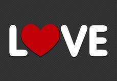 Förälskelse uttrycker med hjärtasymbolen Fotografering för Bildbyråer