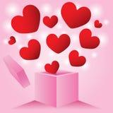 Förälskelseask för hjärta utifrån Arkivfoto