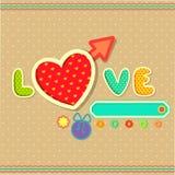 Förälskelsebakgrund vektor illustrationer