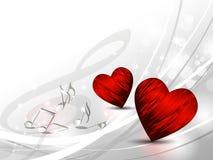 Förälskelsebakgrund - hjärtor Stock Illustrationer