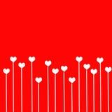 Förälskelsebakgrund med hjärtor stock illustrationer
