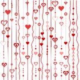 Förälskelsebakgrund med stylized hjärtor stock illustrationer