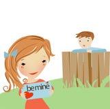 Förälskelsebokstav för en flicka Stock Illustrationer