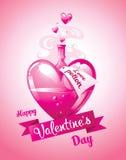 Förälskelsedryck valentin för kortdag s också vektor för coreldrawillustration Royaltyfri Bild