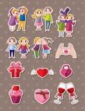Förälskelseetiketter royaltyfri illustrationer