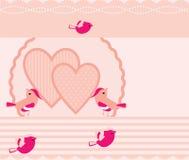Förälskelsefågelbakgrund royaltyfri illustrationer