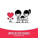 Förälskelsefamilj Arkivfoto