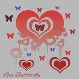 Förälskelsefjäril royaltyfri illustrationer