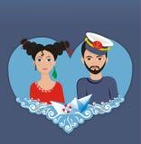 förälskelseflotta Royaltyfri Bild