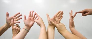 Förälskelsehänder Fotografering för Bildbyråer
