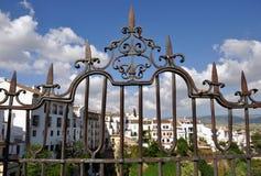 Förälskelsehänglås, Ronda Spain Royaltyfria Foton