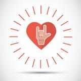 Förälskelsehand med hjärta Fotografering för Bildbyråer