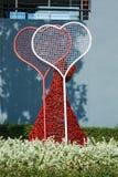 Förälskelsehjärta som bildas från stål Royaltyfri Bild