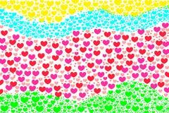 Förälskelsehjärta Valentine Background Fotografering för Bildbyråer