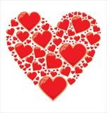 Förälskelsehjärtabakgrund Arkivfoto