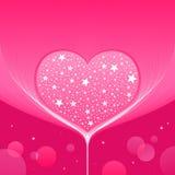 Förälskelsehjärtabakgrund Vektor Illustrationer