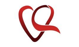Förälskelsehjärtaband stock illustrationer