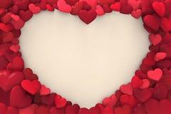 Förälskelsehjärtadesign royaltyfri illustrationer