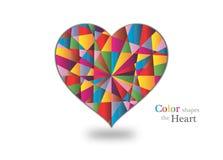 Förälskelsehjärtafärger Arkivbilder