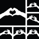 Förälskelsehjärtahänder Fotografering för Bildbyråer
