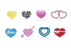 Förälskelsehjärtalogo, symbol och symbol Royaltyfri Bild
