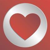 Förälskelsehjärtasymbol Arkivfoto