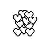 förälskelsehjärtasymbol stock illustrationer