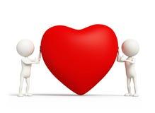Förälskelsehjärtatecken Arkivfoto