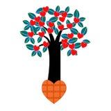 Förälskelsehjärtaträd Fotografering för Bildbyråer