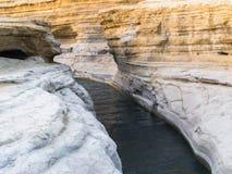 Förälskelsekanalen i Sidari - Korfu arkivfoto