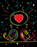 Förälskelsekortdesign Fotografering för Bildbyråer