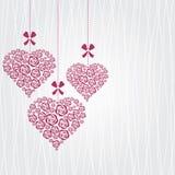 Förälskelsekortmall Royaltyfria Bilder