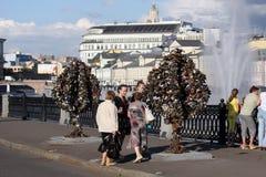 förälskelsemoscow tree Fotografering för Bildbyråer