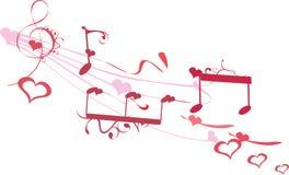 förälskelsemusik Royaltyfri Illustrationer