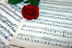 förälskelsemusik Fotografering för Bildbyråer
